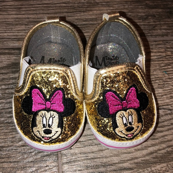 Disney Minnie Mouse Gold Sequin Glitter